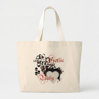 Victorian gothic baby large tote bag