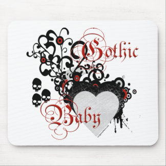 Victorian gothic baby mouse pad