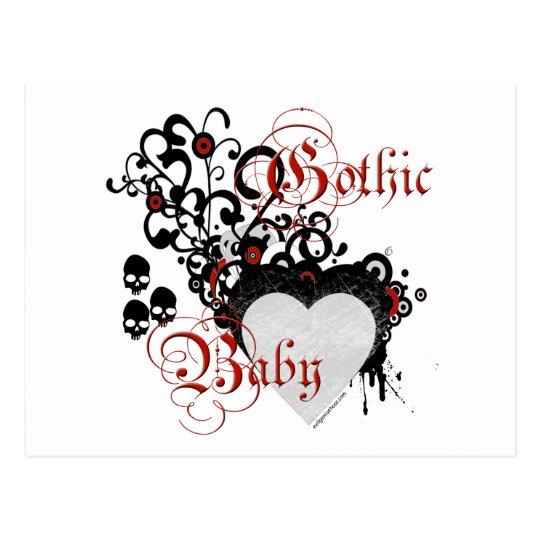 Victorian gothic baby postcard
