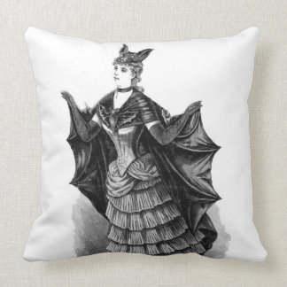 Victorian/Gothic Batgirl/Bat Costume Throw Pillow