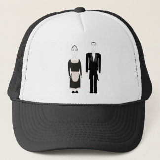 Victorian Gothic Butler and Maid Trucker Hat