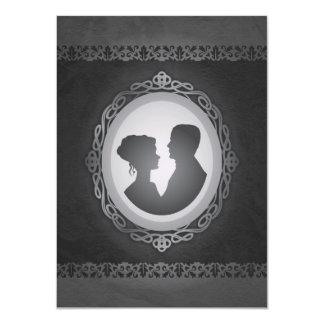 """Victorian Gothic Cameo Wedding Invitations 4.5"""" X 6.25"""" Invitation Card"""