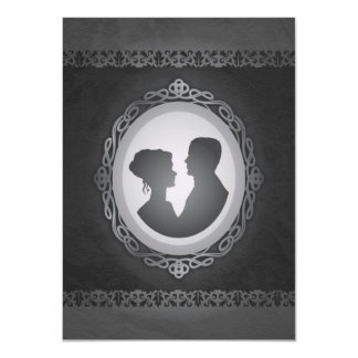 Victorian Gothic Cameo Wedding Invitations