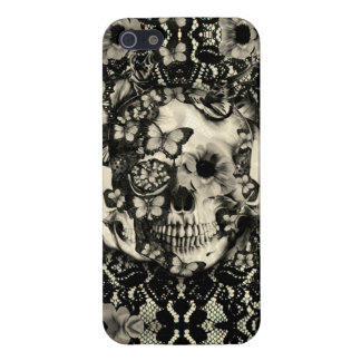 Victorian Gothic floral lace skull iPhone SE/5/5s Cover