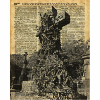 Victorian Gothic Graves,Tombstones Halloween Art Cutout