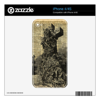 Victorian Gothic Graves,Tombstones Halloween Art Skin For The iPhone 4