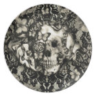 Victorian Gothic Lace skull Dinner Plate