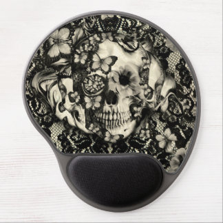 Victorian gothic, lace skull gel mouse pad