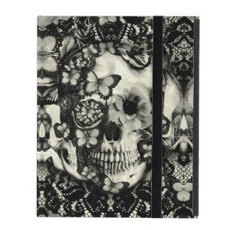 Victorian gothic lace skull iPad folio case