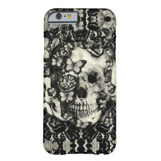 Victorian gothic lace skull pattern barely there iPhone 6 case