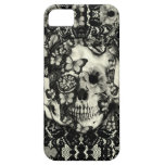Victorian gothic lace skull pattern iPhone 5/5S cases