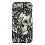 Victorian gothic lace skull pattern iPhone 6 case