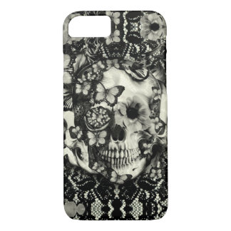 Victorian gothic lace skull pattern iPhone 8/7 case