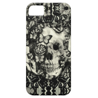 Victorian gothic lace skull pattern iPhone SE/5/5s case