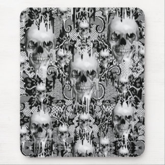 Victorian Gothic Lace skull pattern Mouse Pad