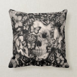 Victorian Gothic lace skull Pillow