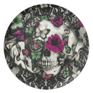 Victorian Skull Plates Zazzle : gothic dinner plates - pezcame.com