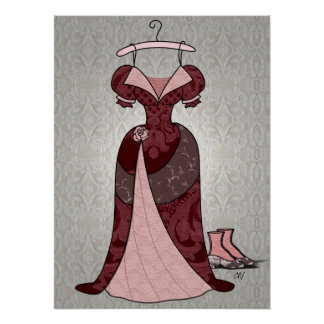 Victorian Gown Print