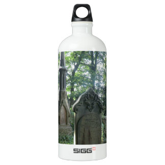 Victorian Gravestones at the Bronte Parsonage Aluminum Water Bottle