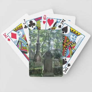 Victorian Gravestones at the Bronte Parsonage Bicycle Playing Cards
