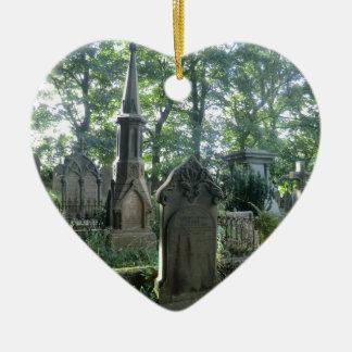 Victorian Gravestones at the Bronte Parsonage Ceramic Ornament