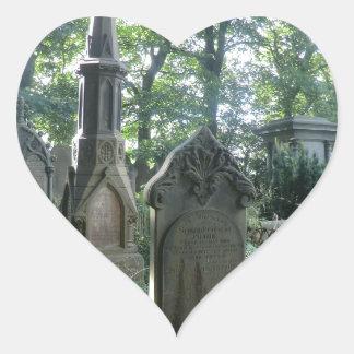 Victorian Gravestones at the Bronte Parsonage Heart Sticker