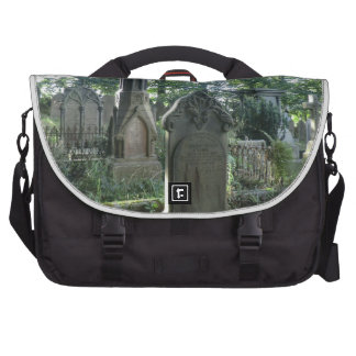 Victorian Gravestones at the Bronte Parsonage Laptop Bags
