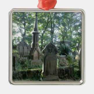 Victorian Gravestones at the Bronte Parsonage Metal Ornament