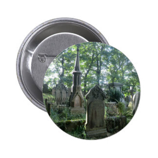 Victorian Gravestones at the Bronte Parsonage Pinback Button