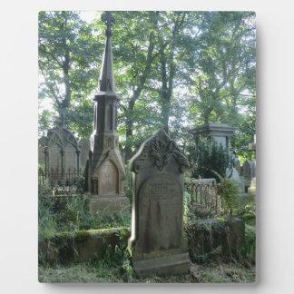 Victorian Gravestones at the Bronte Parsonage Photo Plaque