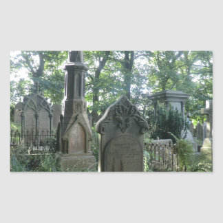 Victorian Gravestones at the Bronte Parsonage Rectangular Sticker
