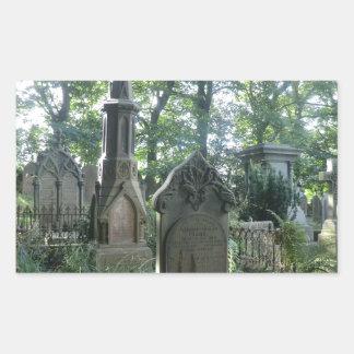 Victorian Gravestones at the Bronte Parsonage Rectangular Sticker