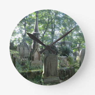 Victorian Gravestones at the Bronte Parsonage Round Clock