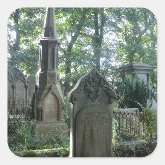Victorian Gravestones at the Bronte Parsonage Square Sticker