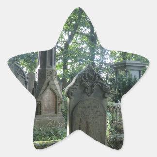 Victorian Gravestones at the Bronte Parsonage Star Sticker