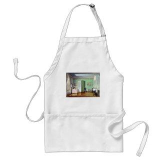 Victorian green bedroom adult apron