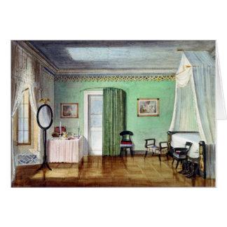 Victorian green bedroom card