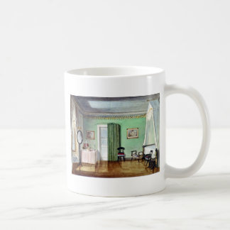 Victorian green bedroom coffee mug