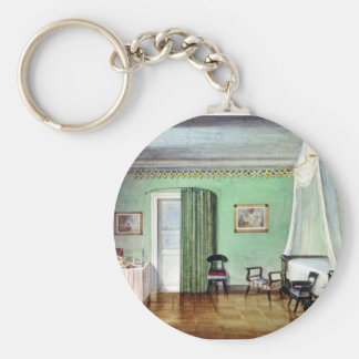 Victorian green bedroom keychain
