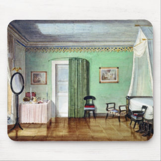 Victorian green bedroom mouse pad