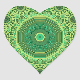 Victorian Green No. 1 Heart Sticker