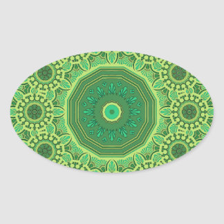 Victorian Green No. 1 Oval Sticker
