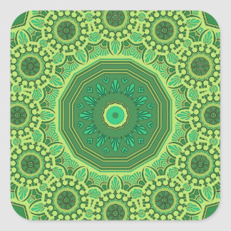 Victorian Green No. 1 Square Sticker