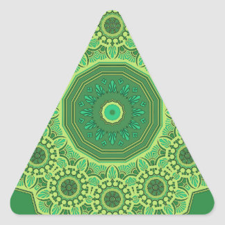 Victorian Green No. 1 Triangle Sticker