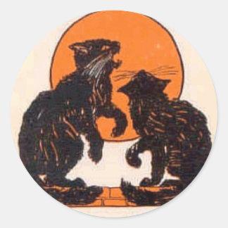 Victorian Halloween Card 027 Classic Round Sticker