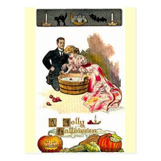 Victorian Halloween Couple Postcard