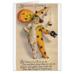 Victorian Halloween Greeting Card