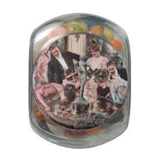 Victorian Halloween Party Glass Candy Jar