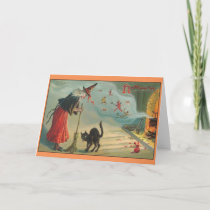 Victorian Halloween Witch Brew Greeting Card