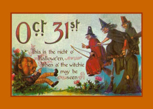 Victorian cards zazzle victorian halloween witch greeting card m4hsunfo